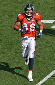 Scheffler while a member of the Denver Broncos in the 2009 NFL season Tony Scheffler.JPG