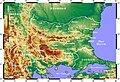 Topographic Map of Bulgaria Francais.jpg