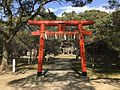 Torii of Daijoin Inari Shrine in Kurume Castle.jpg