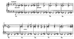 Openings bars from totentanz piano solo version