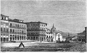 Guimarães - The Toural square in 1864.