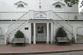 Dukes County, Massachusetts - Image: Town Hall, Edgartown MA