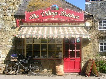 English: Traditional Butcher Shop in Abbotsbury.