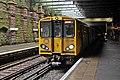 Train, Green Lane Station, Birkenhead (geograph 2986368).jpg