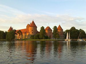 Trakai Island Castle in summer evening.jpg