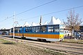 Tram in Sofia in front of Central Railway Station 2012 PD 047.jpg