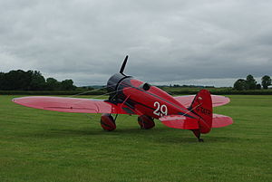 Travel Air Type R Mystery Ship - Replica G-TATR at Old Warden, June 2014