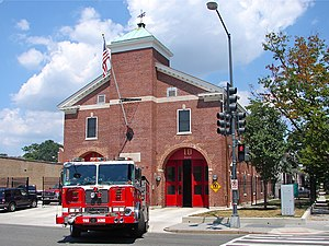 District of Columbia Fire and Emergency Medical Services Department - Engine 10 and Truck 13's quarters in Trinidad.