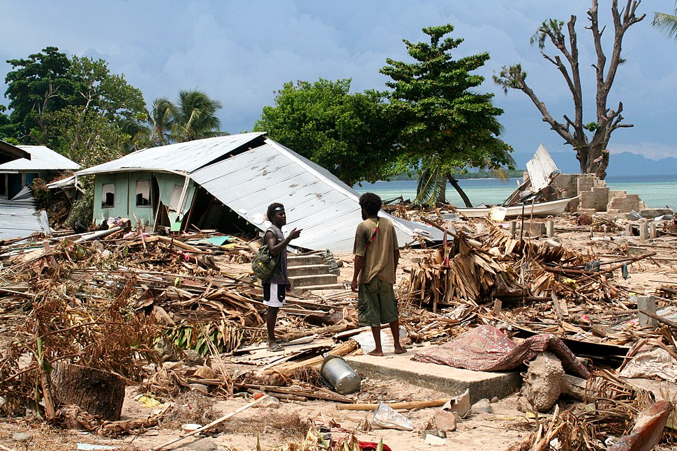 Tsunami damage, Solomon Islands 2007. Photo- AusAID (10730788596)