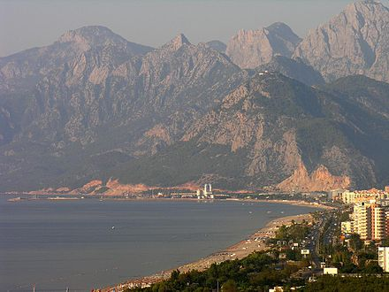 Antalya on the Turkish Riviera (Turquoise Coast) received more than 11 million international tourist arrivals in 2014. Turkey-2459 (2216286345).jpg