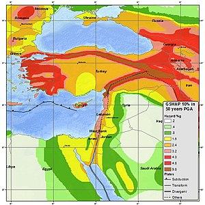 Akkuyu Nuclear Power Plant - Turkey seismic hazard map