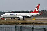 Turkish Airlines, TC-JHC, Boeing 737-8F2 (16550634430).jpg