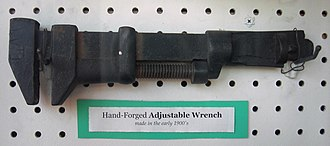 Adjustable spanner - Image: Tweedy and Popp hand forged adjustable wrench