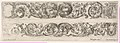 Two Frieze Designs with Acanthus Scrolls combined with a Lion and Eagle on top and Two Rams below, Plate 5 from- 'Decorative friezes and foliage' (Ornamenti di fregi e fogliami) MET DP833570.jpg