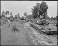 Two M-41tanks, elements of the 4th Cavalry, on a 800 mile cross country reconnaissance mission in northeastern... - NARA - 531438.tif