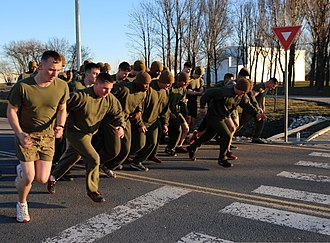 United States Marine Corps Physical Fitness Test - A perfect score is achieved by completing the three mile run in less than 18 minutes
