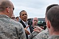 U.S. President Barack Obama greets Team Tinker Airmen affected by the EF-5 Tornado and first responders at Tinker Air Force Base, Okla., May 26, 2013 130526-F-VM627-002.jpg