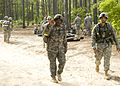 U.S. Soldiers, of 513th Military Intelligence Brigade, participates in a force march, during the Warrior Stakes Exercise, at Fort Gordon, Ga., May 18, 2010 100518-A-NF756-006.jpg