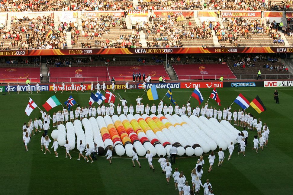 UEFA Women's Euro 2009 final (ceremony before the match)