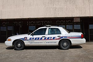 University of Houston Police Department - A University of Houston Police vehicle at Hofheinz Pavilion