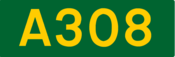 A308 road shield