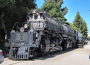 "Union Pacific ""Big Boy"" Number 4014 on static display at the RailGiants Train Museum in Pomona, California, United States"