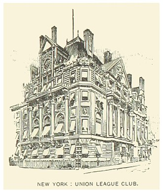 The Union League Club - Third clubouse, seen in 1891