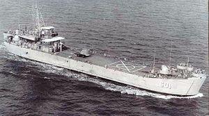 USS Clarke County (LST-601) - Image: USS Clark County
