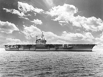 USS Forrestal (CV-59) - Forrestal in 1955, shortly after commissioning