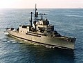 USS Norton Sound (AVM-1) underway at sea, circa in 1980.jpg