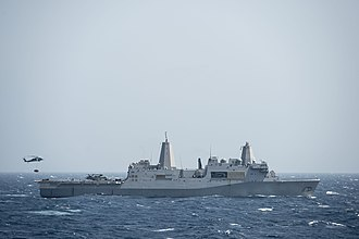 USS San Diego (LPD-22) - USS San Diego (LPD-22) in the Red Sea in October 2014.
