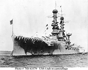 USS Utah (BB-31) - Utah during World War I
