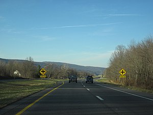 U.S. Route 15 in Maryland - US 15 northbound near Lewistown