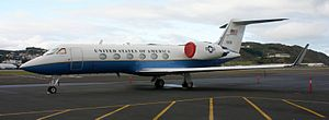 US Army Gulfstream IV @ Wellington Airport - Flickr - 111 Emergency.jpg