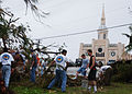 US Navy 021223-N-0000M-030 volunteers assist the local residents of Inarjan, Guam.jpg