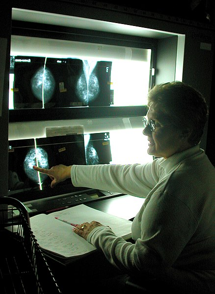 File:US Navy 030425-N-4150K-001 Imaging Specialist Barbaranne Foster, reviews a patient's x-ray.jpg