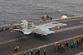US Navy 030825-N-1671M-002 Vice Admiral Timothy J. Keating, Commander, U.S. Naval Forces Fifth Fleet, launches from the flight deck of USS Nimitz (CVN 68) in an F-A-18F Super Hornet.jpg