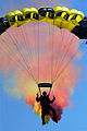 US Navy 070426-N-9604C-001 U.S. Navy Parachute Team (The Leap Frogs), demonstrate their skills during a performance on Naval Base San Diego.jpg