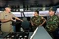 US Navy 070606-N-0989H-023 Commander, Task Group 40.9, Capt. Douglas Wied, greets Vicealmirante Carlos Rene Alvarado Fernendez, Guatemalan Chief of Naval Operations.jpg