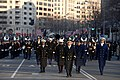 US Navy 090120-A-9759M-218 Military leaders of the U.S. Armed Forces march down Pennsylvania Avenue during the 2009 Inaugural Parade.jpg