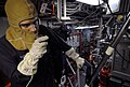 US Navy 090619-N-0807W-014 Damage Controlman 2nd Class Eduardo A. Quinteros, from Queens, N.Y., communicates with damage control central.jpg