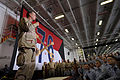 US Navy 090713-N-3659B-040 Adm. Mike Mullen, chairman of the Joint Chiefs of Staff, addresses the crew of the aircraft carrier USS Ronald Reagan (CVN 76) in the Gulf of Oman.jpg