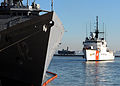 US Navy 100509-N-9301W-624 USCGC Spencer (WMEC 905) pulls into the harbor behind USS Klakring (FFG 42) while in Montevideo, Uruguay.jpg
