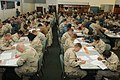 US Navy 110303-N-4936C-053 Sailors assigned to Naval Station Guantanamo Bay and Joint Task Force Guantanamo take the Navy-wide E-6 advancement exam.jpg