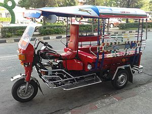 Songthaew - Technically, this tuk-tuk style is also a 2-row, in Udon Thani, though powered by a motorcycle engine.