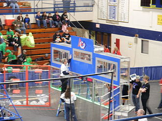 Ultimate Ascent - Middle and high goals for the blue alliance