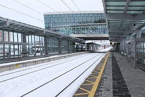 Umeå East Station - Image: Umeå Östra (platform)