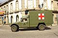 Un Nissan Patrol y un Uro VAMTAC ambulancia de la BRILAT (15448968932).jpg