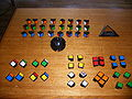 Unassembled Rubik's Revenge.JPG