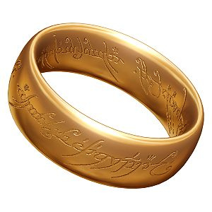 English: A 3D model of the One Ring Italiano: ...